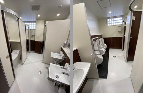 道の駅はしかみ施設内トイレのリニューアル工事が完了しました